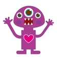 monster character funny comic vector image