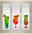 Set of watercolor cocktail banners vector image