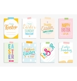 Happy Easter cards set typography with vector image