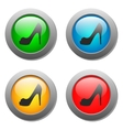 Lady shoe icon on buttons set vector image