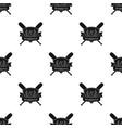 emblem baseball single icon in black style vector image