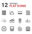 12 information icons vector image vector image