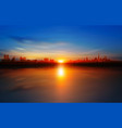 abstract background with sunset in tallinn vector image