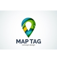 Abstract business company map tag or locator logo vector image