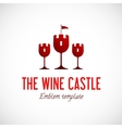abstract wine glass castle concept symbol icon vector image vector image