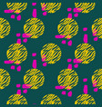 bold shapes textured seamless pattern vector image