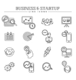 business and startup line icons set vector image vector image