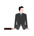 businessman on his knees with a suitcase vector image