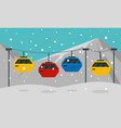 cable car banner flat style vector image