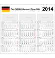 Calendar 2014 German Type 19B vector image vector image