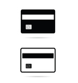 card set in black and white color vector image vector image