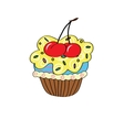 Cartoon cupcake simple vector image vector image