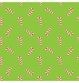 christmas candies on green background vector image vector image