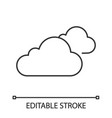 cloudy weather linear icon vector image