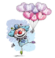 Clown with Heart Balloons Saying Thank You Boy vector image vector image