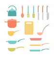 color set cookware vector image