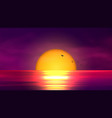 colorful sunset over ocean vector image