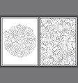 coloring pages set with tribal elements abstract