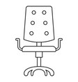 computer chair icon outline style vector image vector image