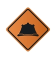 construction helmet icon sign vector image vector image