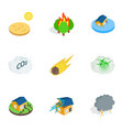 crisis icons isometric 3d style vector image vector image