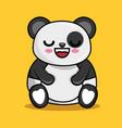 cute panda character kawaii style vector image vector image