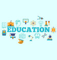 education horizontal poster vector image