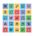 Education Square Icons 2 vector image vector image