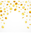 falling gold coins in different positions vector image vector image