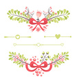 fElegant floral decorative elements vector image