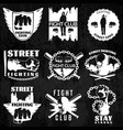 fight clubs emblems vector image