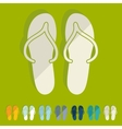 Flat design slippers vector image vector image