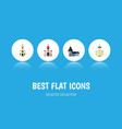 flat icon church set of christian building vector image vector image