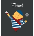 French man cartoon character citizen France in