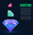 Gemstone isolated on dark background vector image vector image