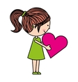 girl character isolated icon design vector image