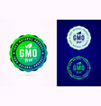 gmo free badge for natural product vector image