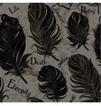 gothic seamless background from black feathers vector image vector image