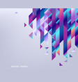 gradient bright colorful geometric shapes and vector image vector image