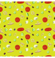 Greek salad seamless pattern background vector image vector image