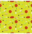 Greek salad seamless pattern background vector image