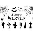 happy halloween creepy poster vector image