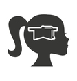 head profile human with education icon vector image vector image