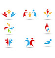 human icons and symbols vector image vector image