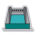 hydroelectric plant isolated icon vector image