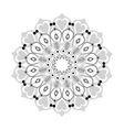 intricate mandala with hearts icon vector image vector image