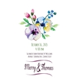 invitation card with watercolor elements vector image vector image