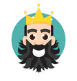 King logo King icon vector image