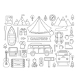 line icons set camping vector image vector image