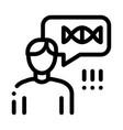 man genetic molecule icon outline vector image vector image